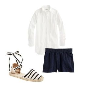 J.Crew Matelasse Navy Blue Shorts